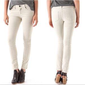 Rag & Bone Skinny Eggshell Corduroy Skinny Jeans